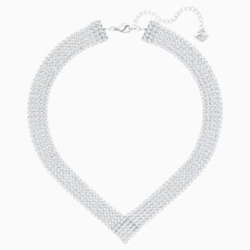 Collar Fit, blanco, Baño de Paladio - Swarovski, 5289715