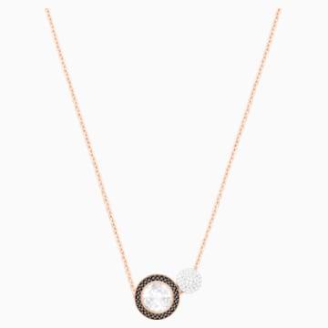 Hote Versatile Pendant, Black, Rose-gold tone plated - Swarovski, 5289769