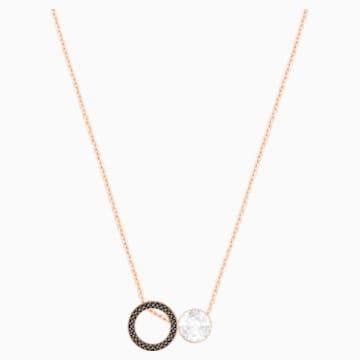Hote Versatile 鏈墜, 黑色, 鍍玫瑰金色調 - Swarovski, 5289769