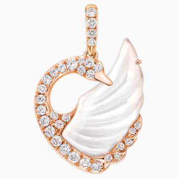 18K RG Dancing Swan Pendant (RC) - Swarovski, 5294489