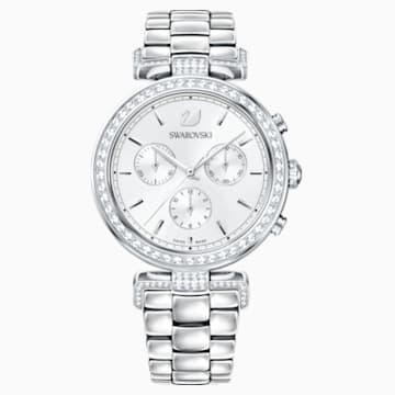 Reloj Era Journey, Brazalete de metal, blanco, acero inoxidable - Swarovski, 5295363