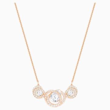 Generation Necklace, White, Rose-gold tone plated - Swarovski, 5298347