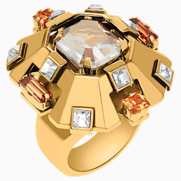 Cristaux Deco 大 戒指, 镀金色调 - Swarovski, 5298750