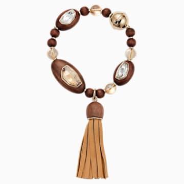Wood Crystallized Tassell 手鏈, 鍍鈀色 - Swarovski, 5298916