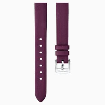 Correa de reloj 14mm, Piel, rojo oscuro, acero inoxidable - Swarovski, 5301923