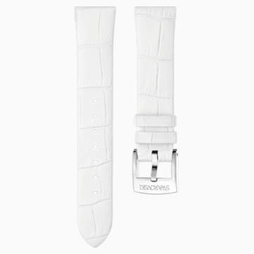 Cinturino per orologio 18mm, Pelle, bianco, acciaio inossidabile - Swarovski, 5301943