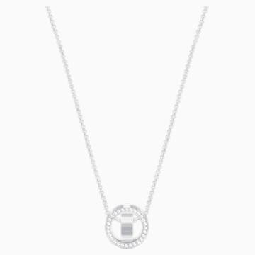 Hollow 链坠, 白色, 镀铑 - Swarovski, 5349348