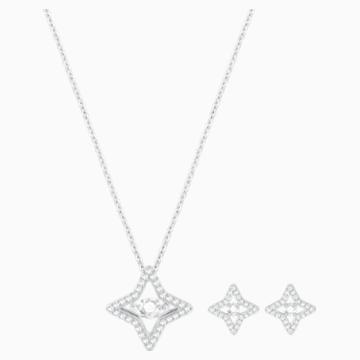 Parure Sparkling Dance Star, blanc, Métal rhodié - Swarovski, 5349667