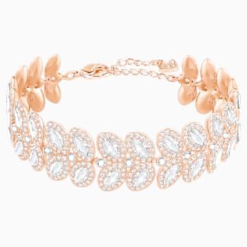 Baron Bracelet, White, Rose-gold tone plated - Swarovski, 5350618