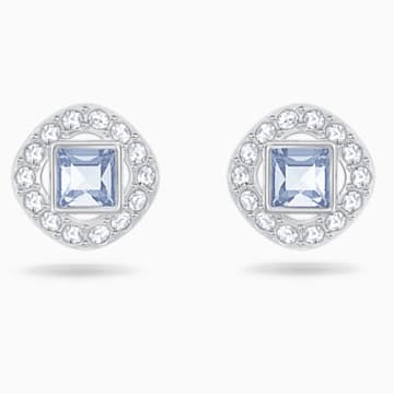 Angelic Square Серьги, Синий Кристалл, Родиевое покрытие - Swarovski, 5352048