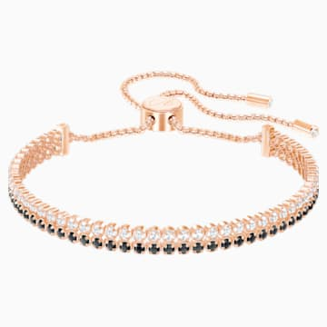 Subtle Bracelet, Black, Rose-gold tone plated - Swarovski, 5352092