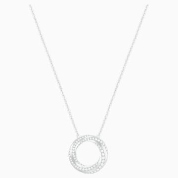 Hilt Necklace, White, Rhodium plating - Swarovski, 5353521