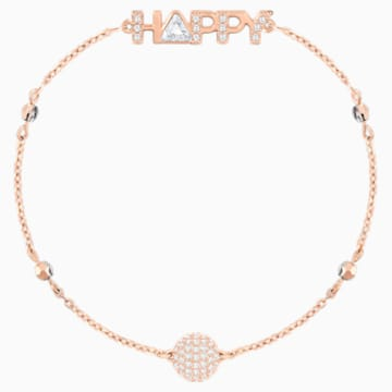 Swarovski Remix Collection Happy Strand, White, Rose-gold tone plated - Swarovski, 5353847