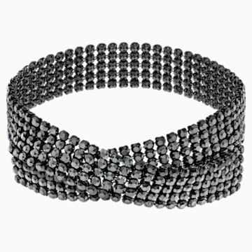 Fit Necklace, Black, Ruthenium plated - Swarovski, 5355185