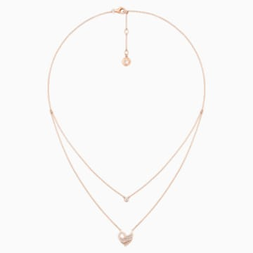 Dancing Swan Double Necklace - Swarovski, 5362918