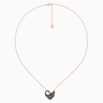18K RG Blk Dia Dancing Swan Necklace - Swarovski, 5362922