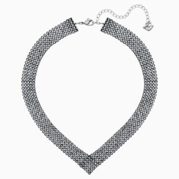 Fit Necklace, Black, Ruthenium plating - Swarovski, 5363515