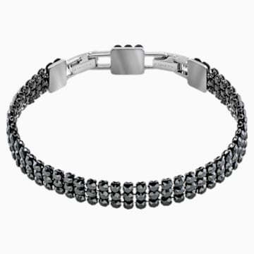 Fit Bracelet, Black, Ruthenium plated - Swarovski, 5363517