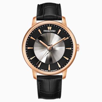 Atlantis限定版男士自动机械腕表, 真皮表带, 黑色, 玫瑰金色调 PVD - Swarovski, 5364212