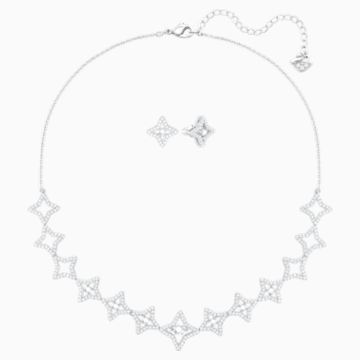 Sparkling Dance Star Set, Medium, White, Rhodium plating - Swarovski, 5364217