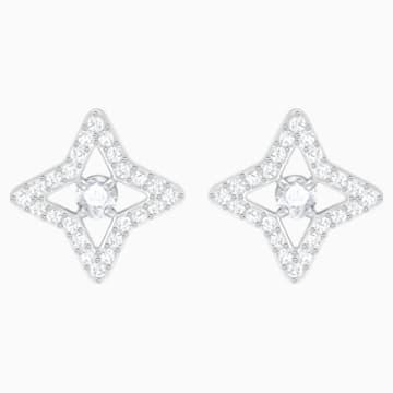 Boucles d'oreilles clous Sparkling Dance Star, blanc, Métal rhodié - Swarovski, 5364218