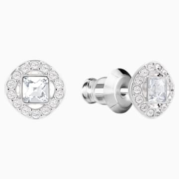 Angelic Square Set, White, Rhodium plated - Swarovski, 5364318