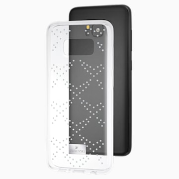 Coque rigide pour smartphone avec cadre amortisseur Hillock, Samsung Galaxy S® 8, transparent - Swarovski, 5364493
