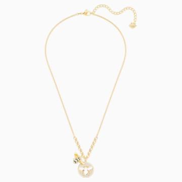 Naszyjnik Lisabel, biały, w odcieniu złota - Swarovski, 5365641