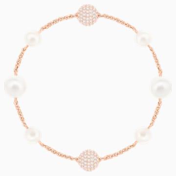 Swarovski Remix Collection Round Pearl Strand, Beyaz, Pembe altın rengi kaplama - Swarovski, 5365738