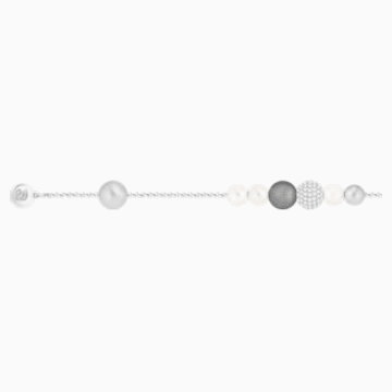 Swarovski Remix Collection Pearl Strand, Gray, Rhodium plated - Swarovski, 5365739