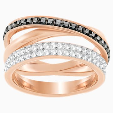 Hero Ring, Gray, Rose-gold tone plated - Swarovski, 5366566