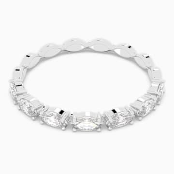 Vittore Marquise 戒指, 白色, 鍍白金色 - Swarovski, 5366570