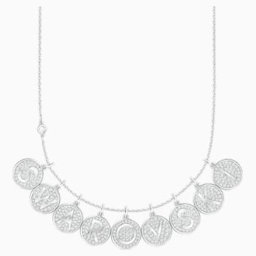 Letter O Pendant, White, Rhodium plating - Swarovski, 5367215