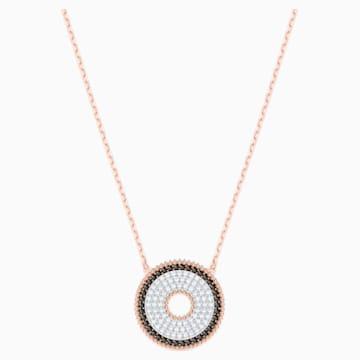 Lollypop Necklace, Black, Rose-gold tone plated - Swarovski, 5367825