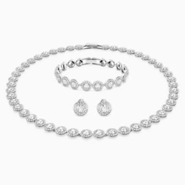 Set Collane Angelic, bianco, Placcatura rodio - Swarovski, 5367853