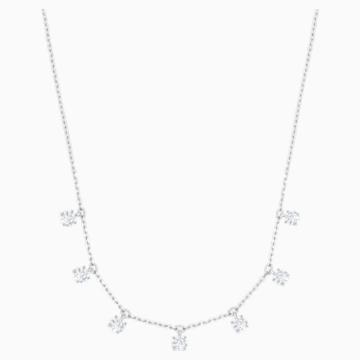 Attract Choker, White, Rhodium plated - Swarovski, 5367966
