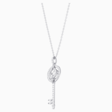 Pendentif Swarovski Sparkling Dance Key, blanc, Métal rhodié - Swarovski, 5368263