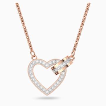 Collier Lovely, blanc, Métal doré rose - Swarovski, 5368540