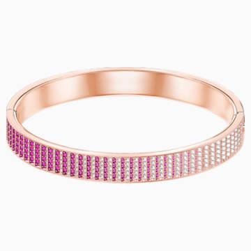 Bracelet-jonc Luxury, rose, Métal doré rose - Swarovski, 5368563