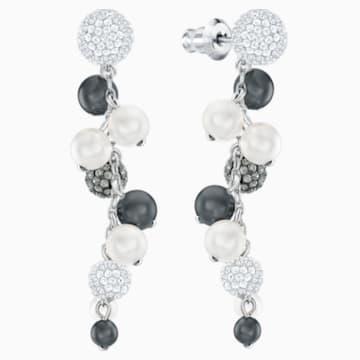 Lady Jane Pierced Earrings, Multi-colored, Rhodium plated - Swarovski, 5368697