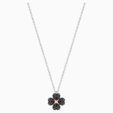 Pendentif Latisha Flower, noir, Finition mix de métal - Swarovski, 5368980