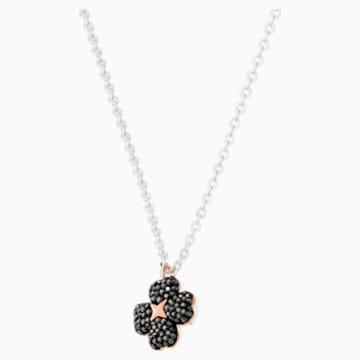 Colgante Latisha Flower, negro, Combinación de acabados metálicos - Swarovski, 5368980