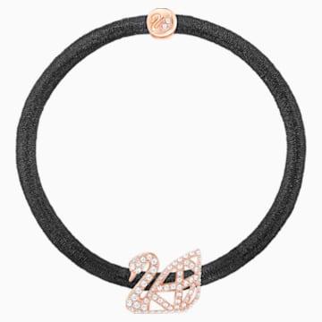 Facet Swan Elastic Hair Band, Rose gold plating - Swarovski, 5369580
