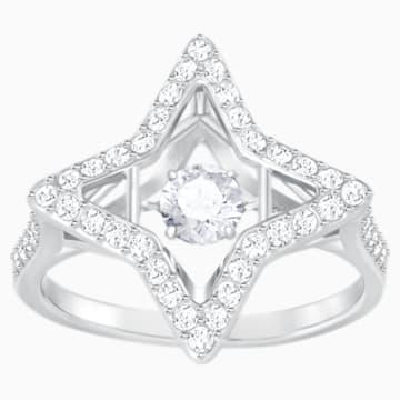 Sparkling Dance Star Ring, White, Rhodium plated - Swarovski, 5372931