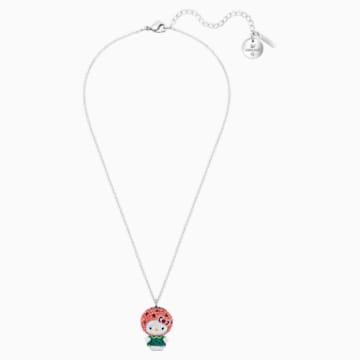 Hello Kitty Wattermelon Pendant, Multi-colored, Rhodium plated - Swarovski, 5373134