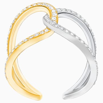 Humming Ring, White, Mixed plating - Swarovski, 5373491