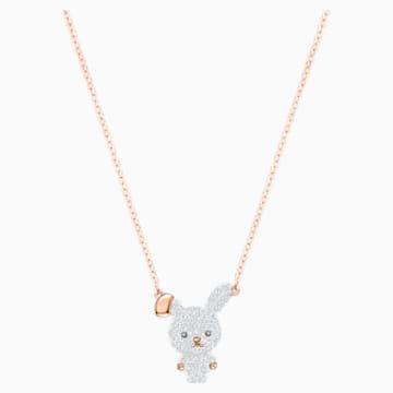 Little Bunny 鏈墜, 多色設計, 鍍玫瑰金色調 - Swarovski, 5374443
