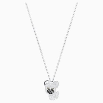 Little Dog Pendant, White, Rhodium plated - Swarovski, 5374446