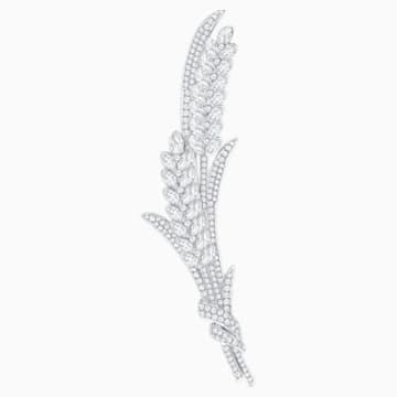 Lucia 胸針, 白色, 鍍白金色 - Swarovski, 5374873
