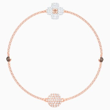 Swarovski Remix Collection Clover Strand, weiss, Rosé vergoldet - Swarovski, 5375185